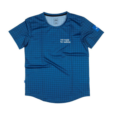 Saysky Checker Combat Tee Blue Checkerboard-Runster