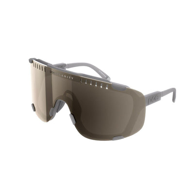 POC Devour Sportbrille Moonstone Grey Brown Silver Mirror-Runster