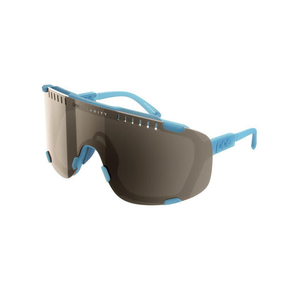 POC Devour Sportbrille Basalt Blue Brown Silver Mirror-Runster
