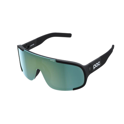 POC Aspire Sportbrille Uranium Black Translucent Grey Deep Green Mirror-Runster