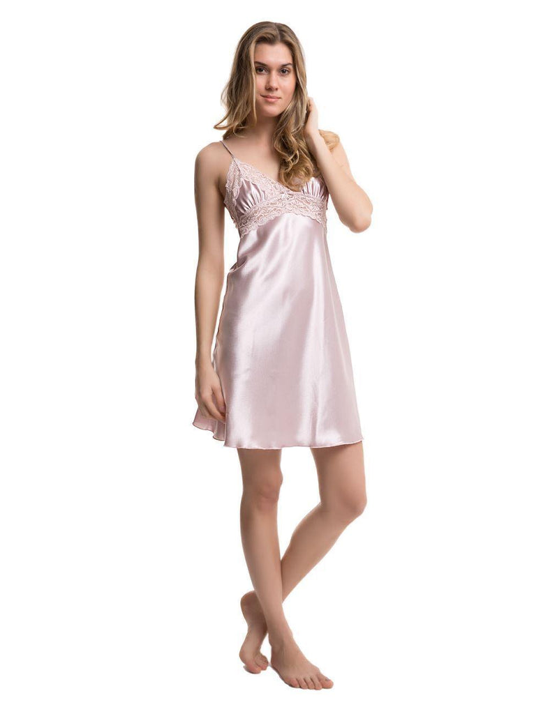 Satin Nightgown - Colorful Wings