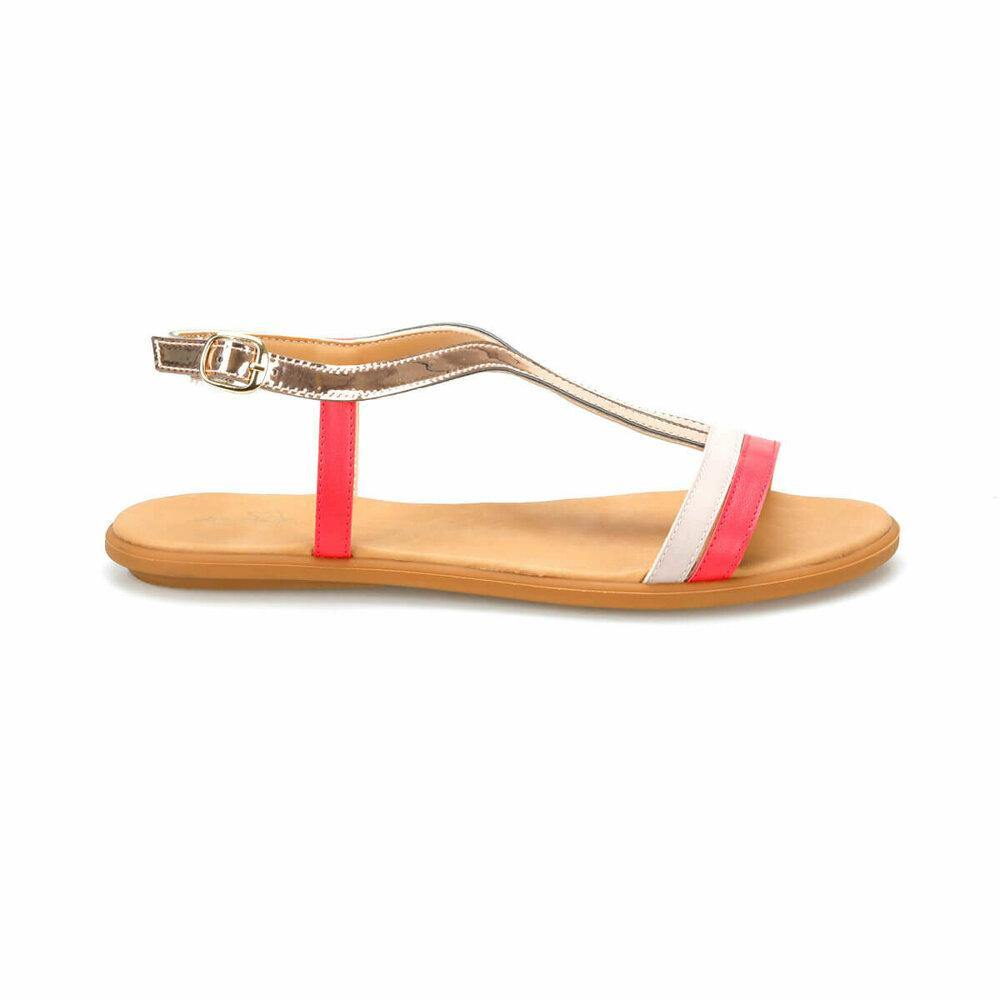 Women's Multi-color Flat Sandal - Colorful Wings