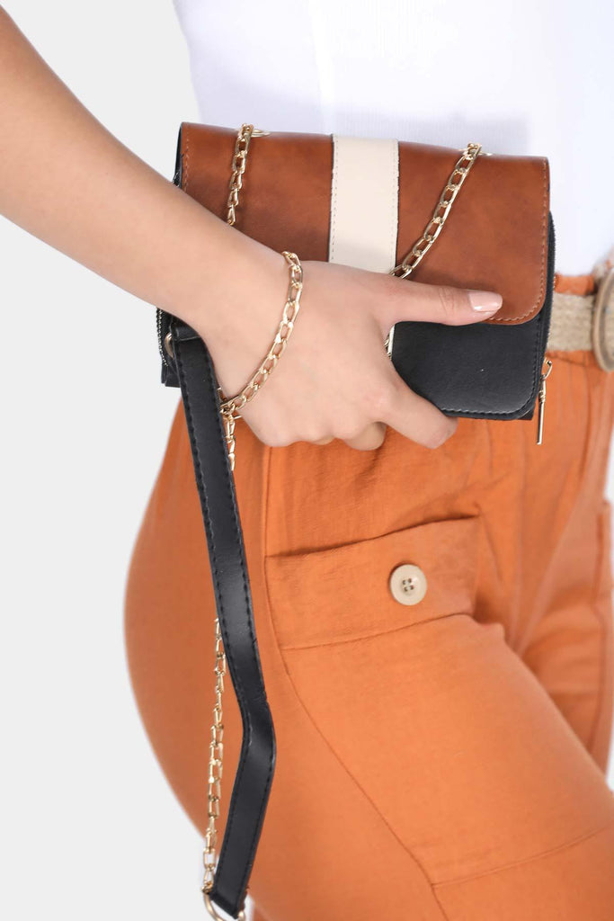 Women's Chain Strap Ginger Bag - Colorful Wings