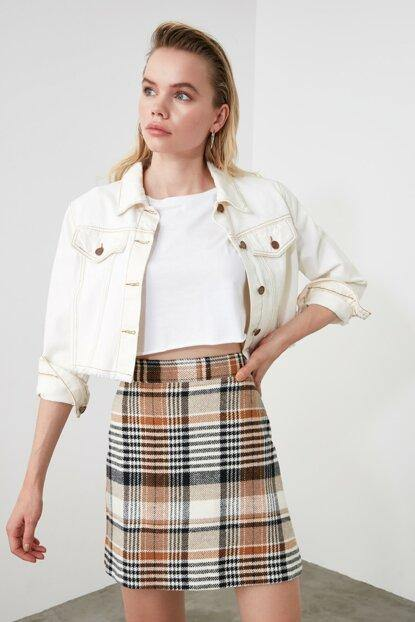 Women's Plaid Short Skirt - Colorful Wings