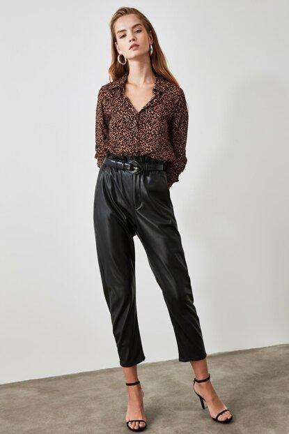 Women's Leopard Pattern Brown Shirt - Colorful Wings