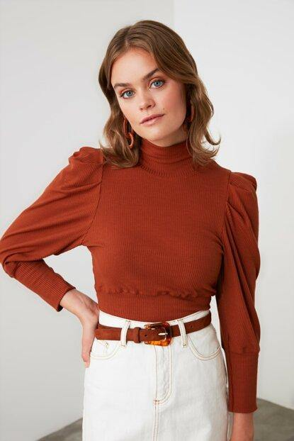 Women's Shirred Cinnamon Blouse - Colorful Wings