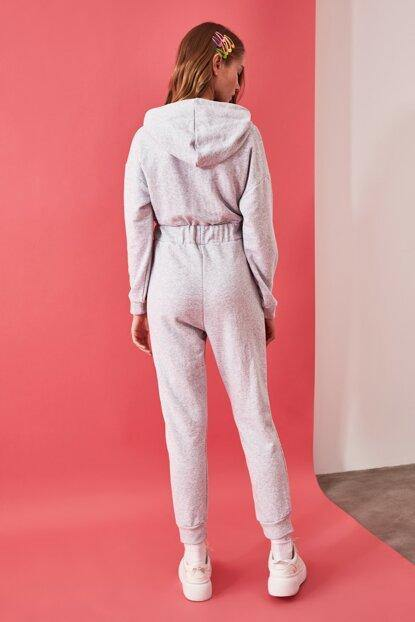 Women's Grey Basic Overall - Colorful Wings