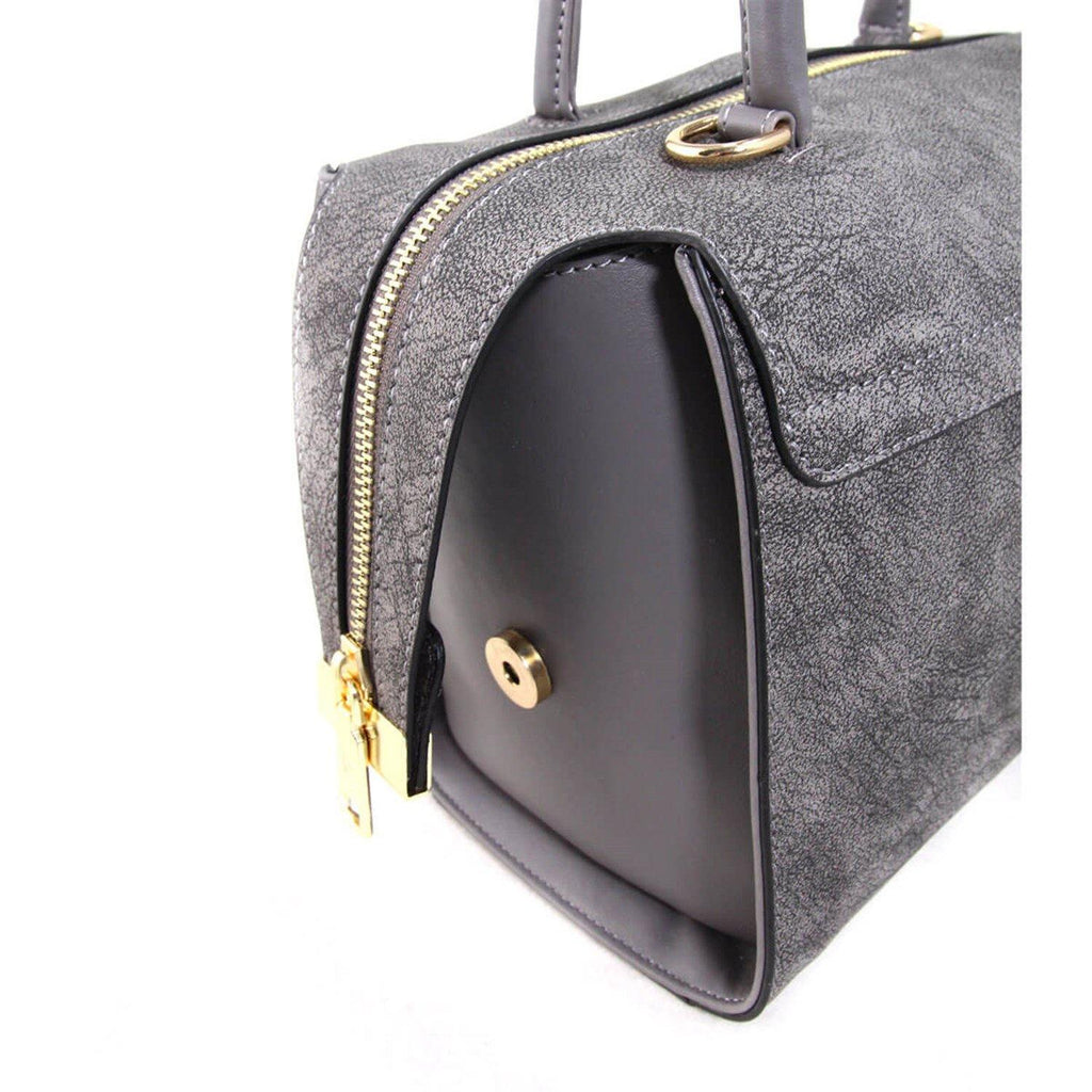 Women's Zipped Grey Hand Bag - Colorful Wings