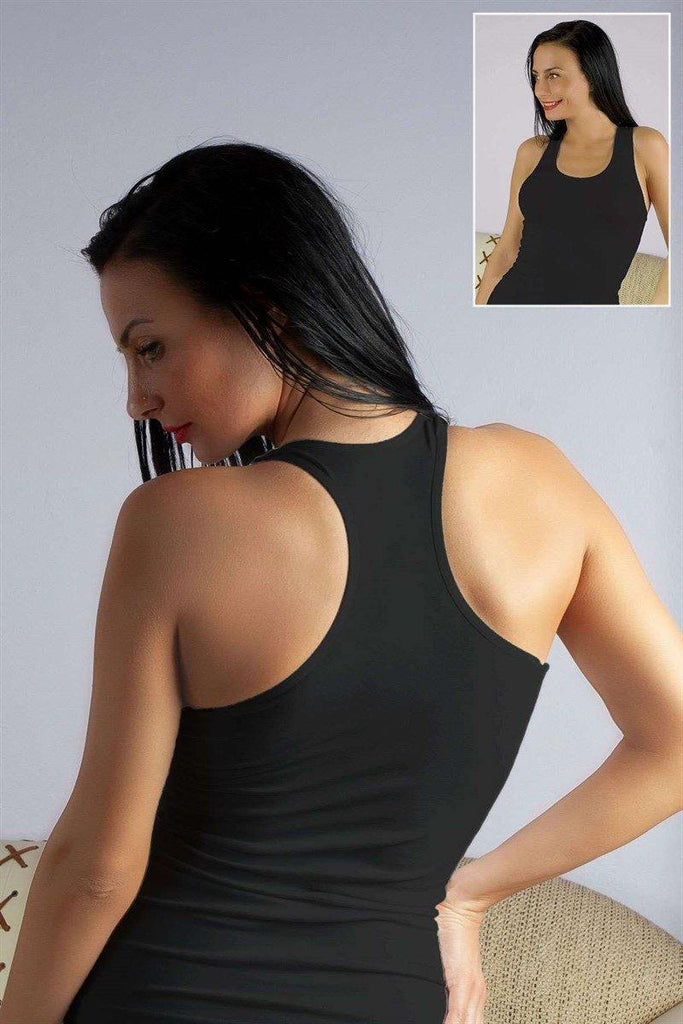 Women's Black Sport Camisole - Colorful Wings