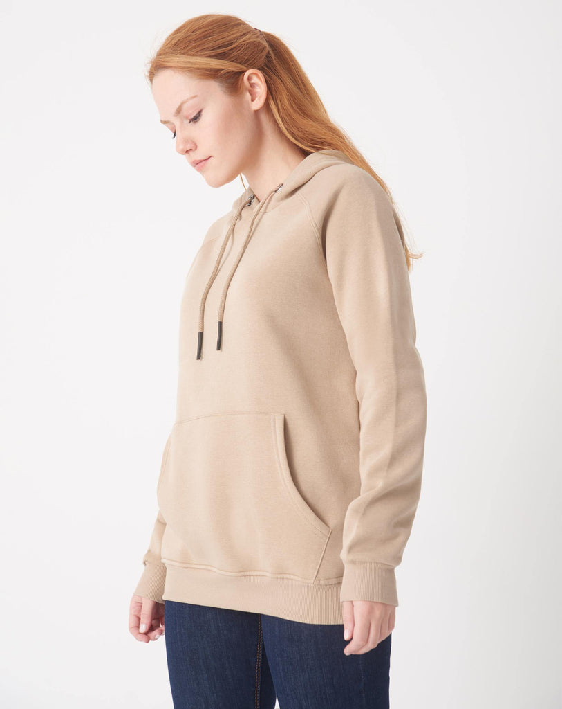 Women's Hooded Pocket Sweatshirt - Colorful Wings