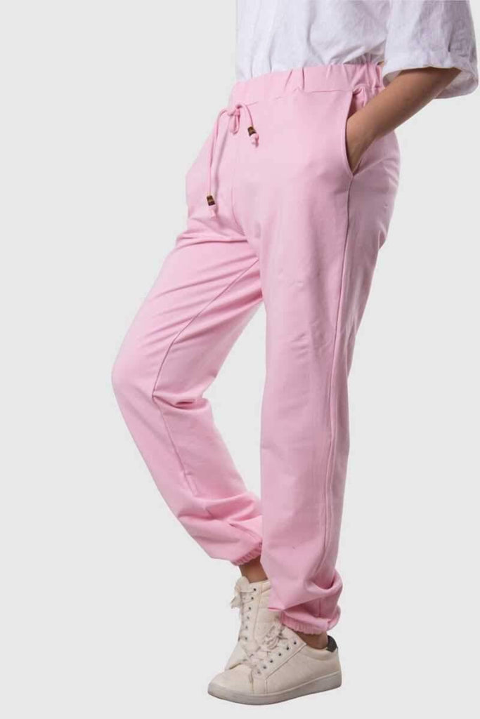 Women's Pocket Pink Sport Pants - Colorful Wings