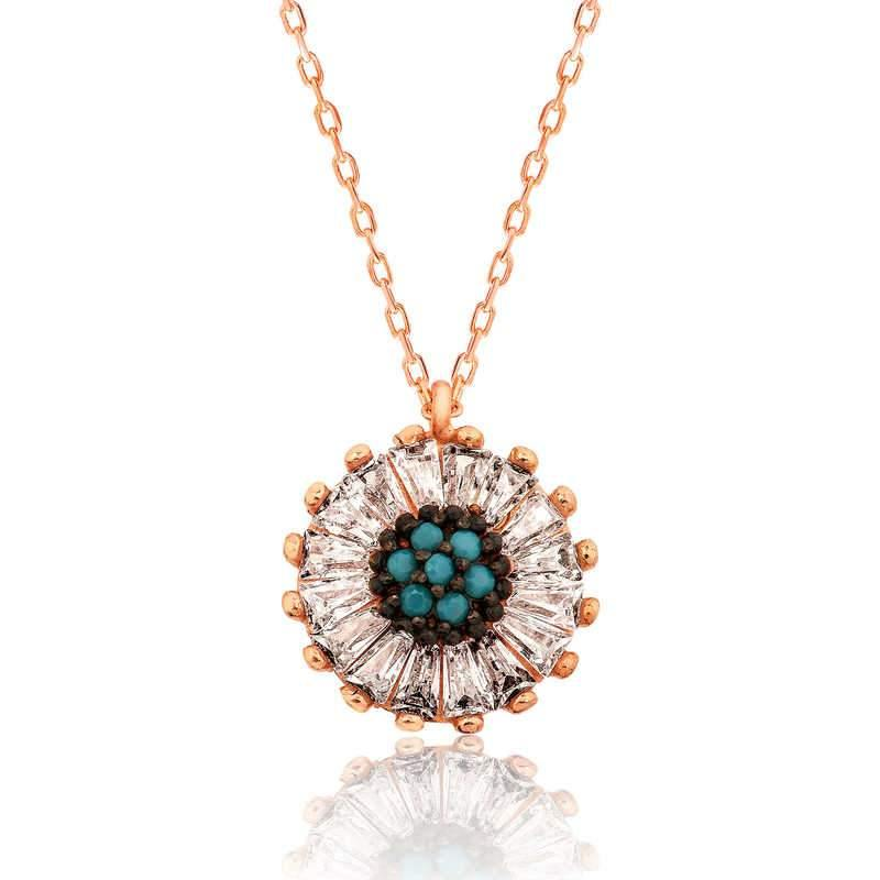 Women's Gemmed Daisy Necklace - Colorful Wings