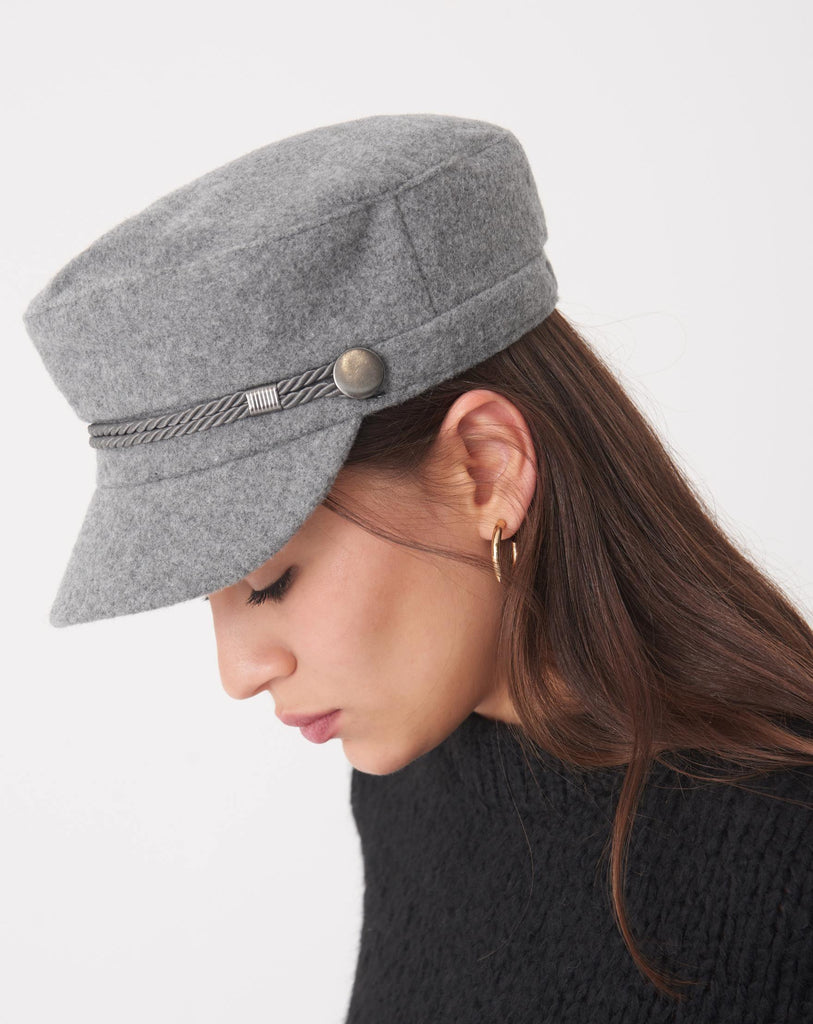 Women's Grey Peaked Cap - Colorful Wings