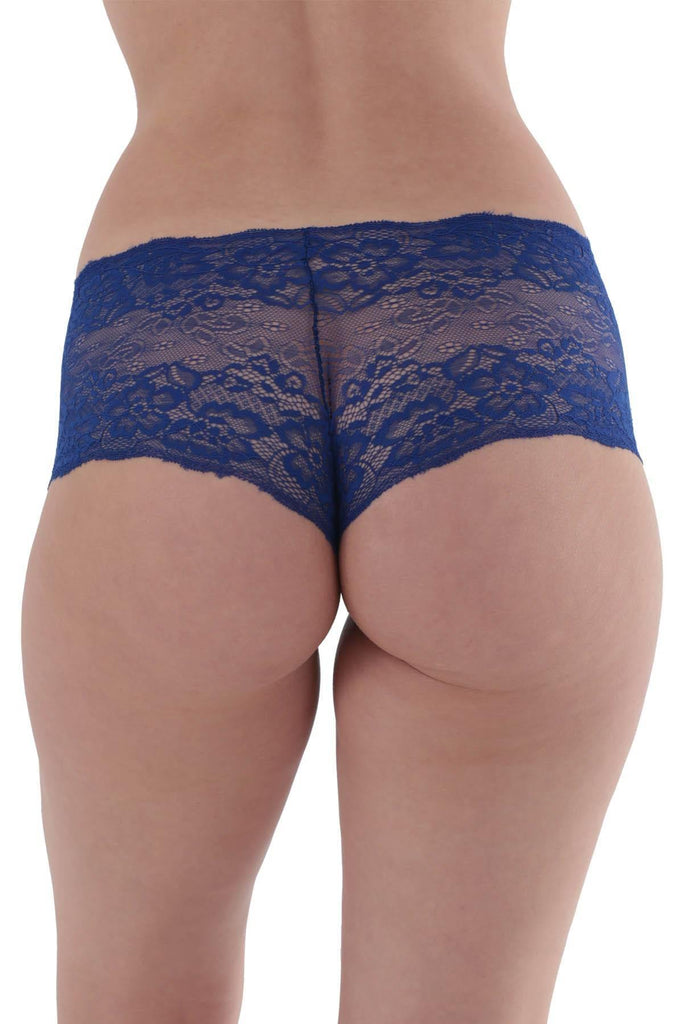 Women's Saxe Blue Lace Panty - Colorful Wings
