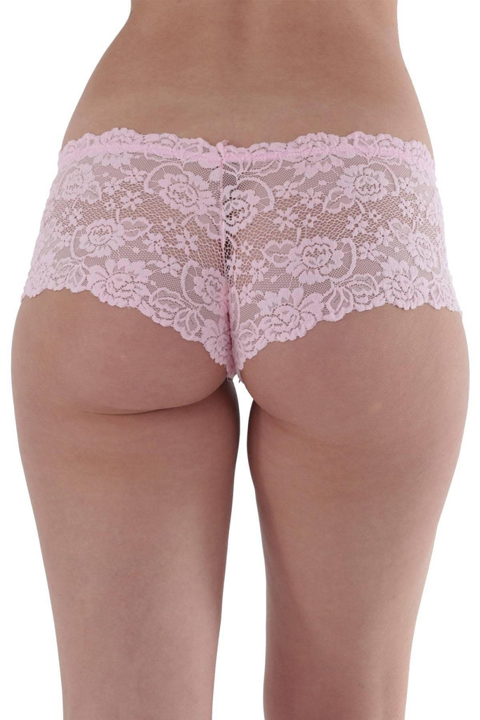 Women's Pink Lace Panty - Colorful Wings