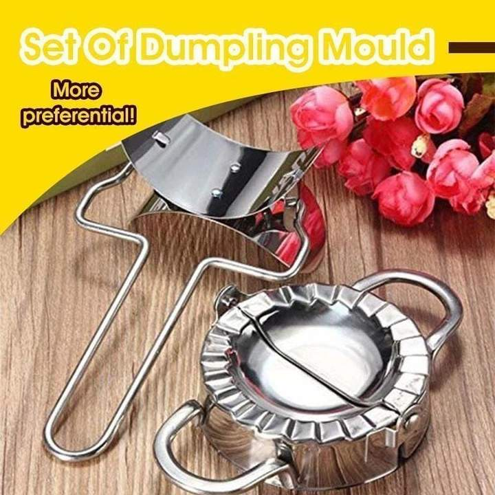 2Pcs/Set Stainless Steel Dumpling Maker Dough Cutter Pie Ravioli Dumpling Mould Kitchen Pastry Tools Accessories Cutting Tool