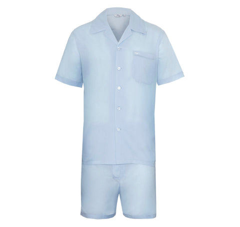 Blue Cotton Pyjama Set - Somnus