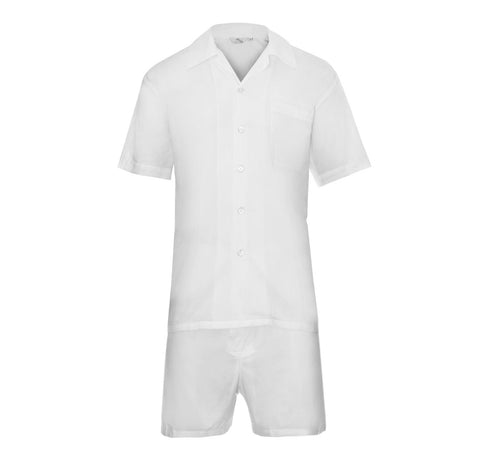 White Cotton Pyjama Set - Somnus