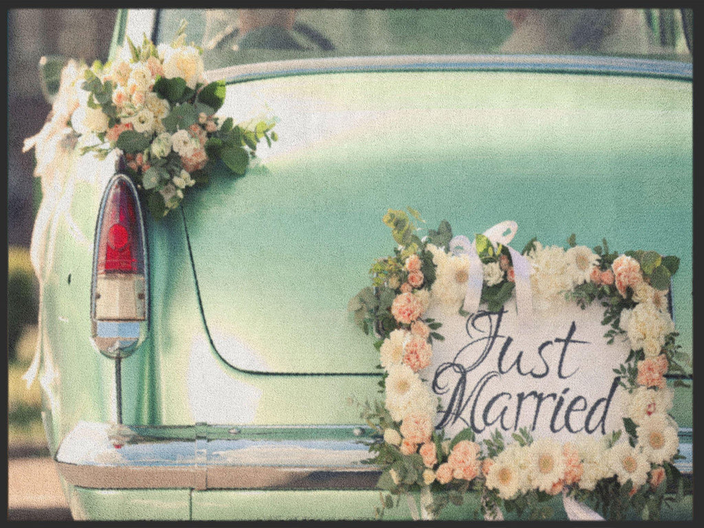 Fussmatte Just Married 4964-Fussmattenwelt