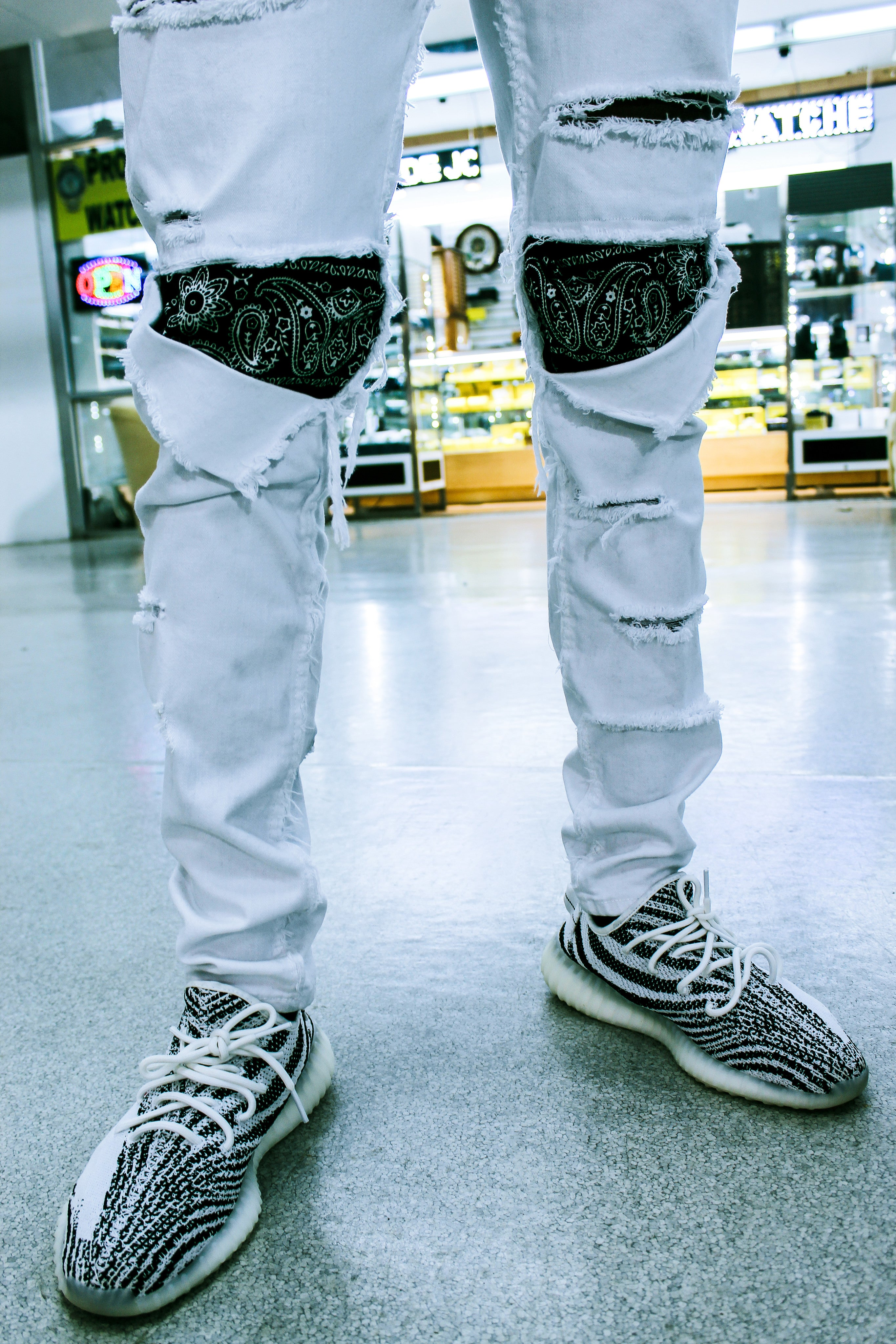 White Bandit Distressed Denim