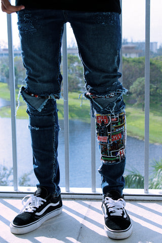 TZUL Star-W 3.0 Distressed Denim