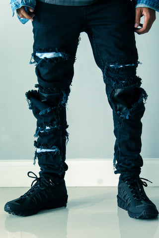 Motor Sport Distressed Denim
