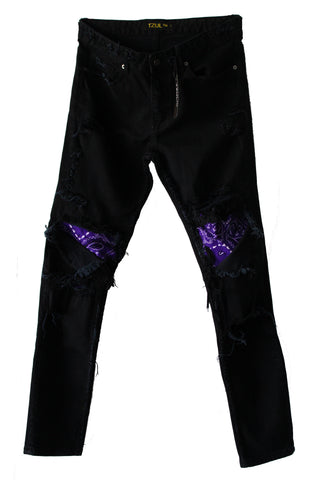 Purple Reign Distressed Denim