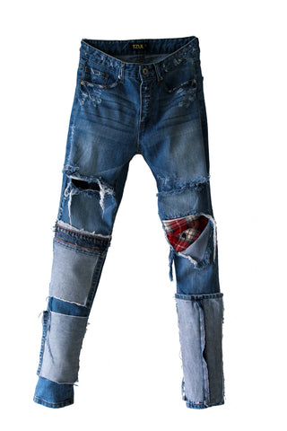 KC27 Strange Distressed Denim