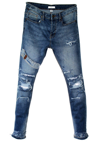 TZUL Off-set Distressed Denim