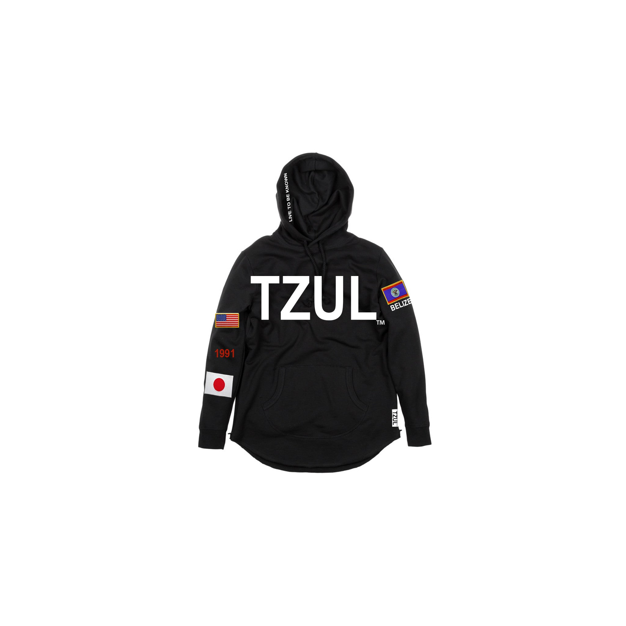 TZUL Embroidered Detail Hoodie