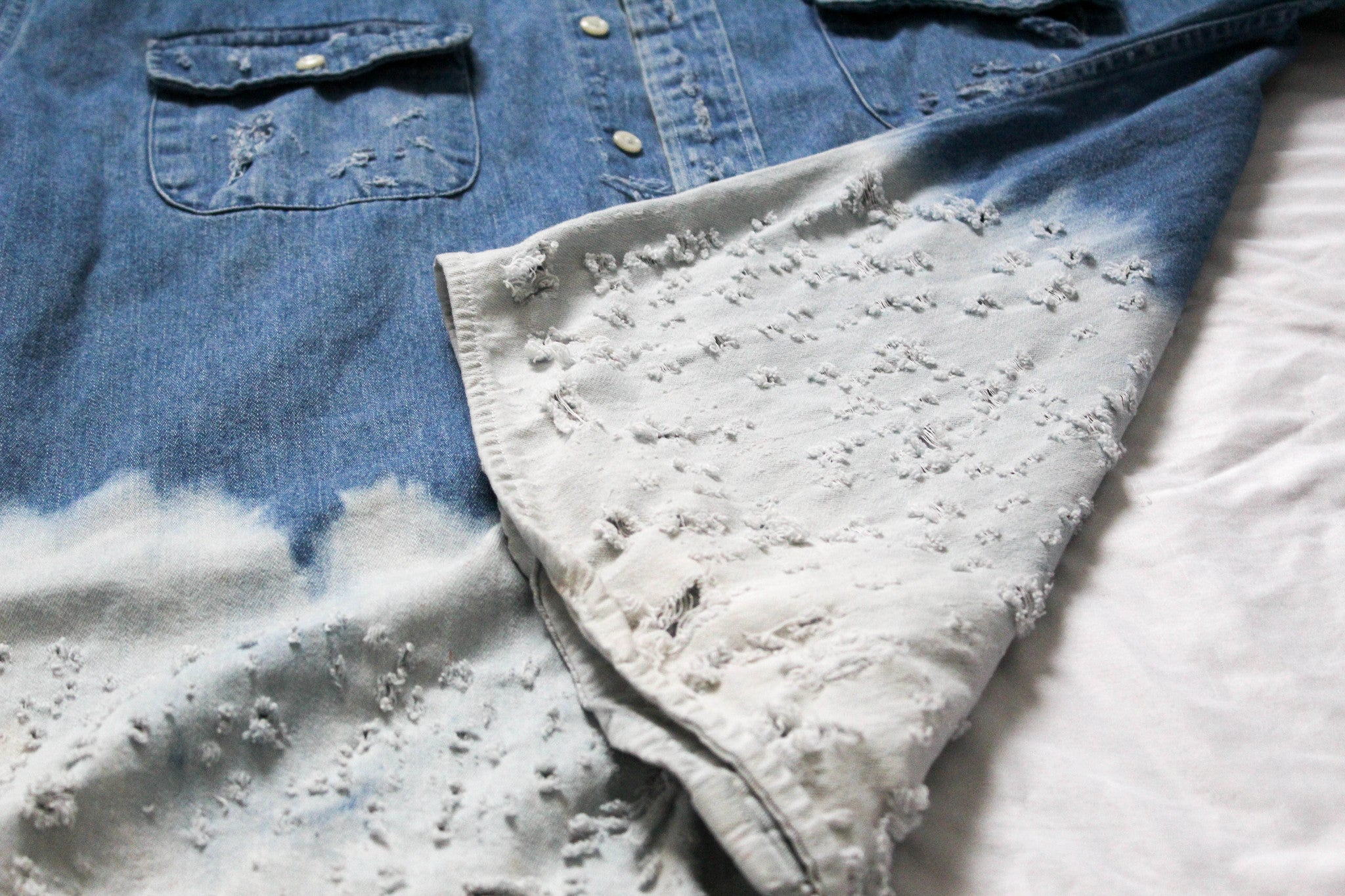 TZUL Distressed Womens Denim Overlay
