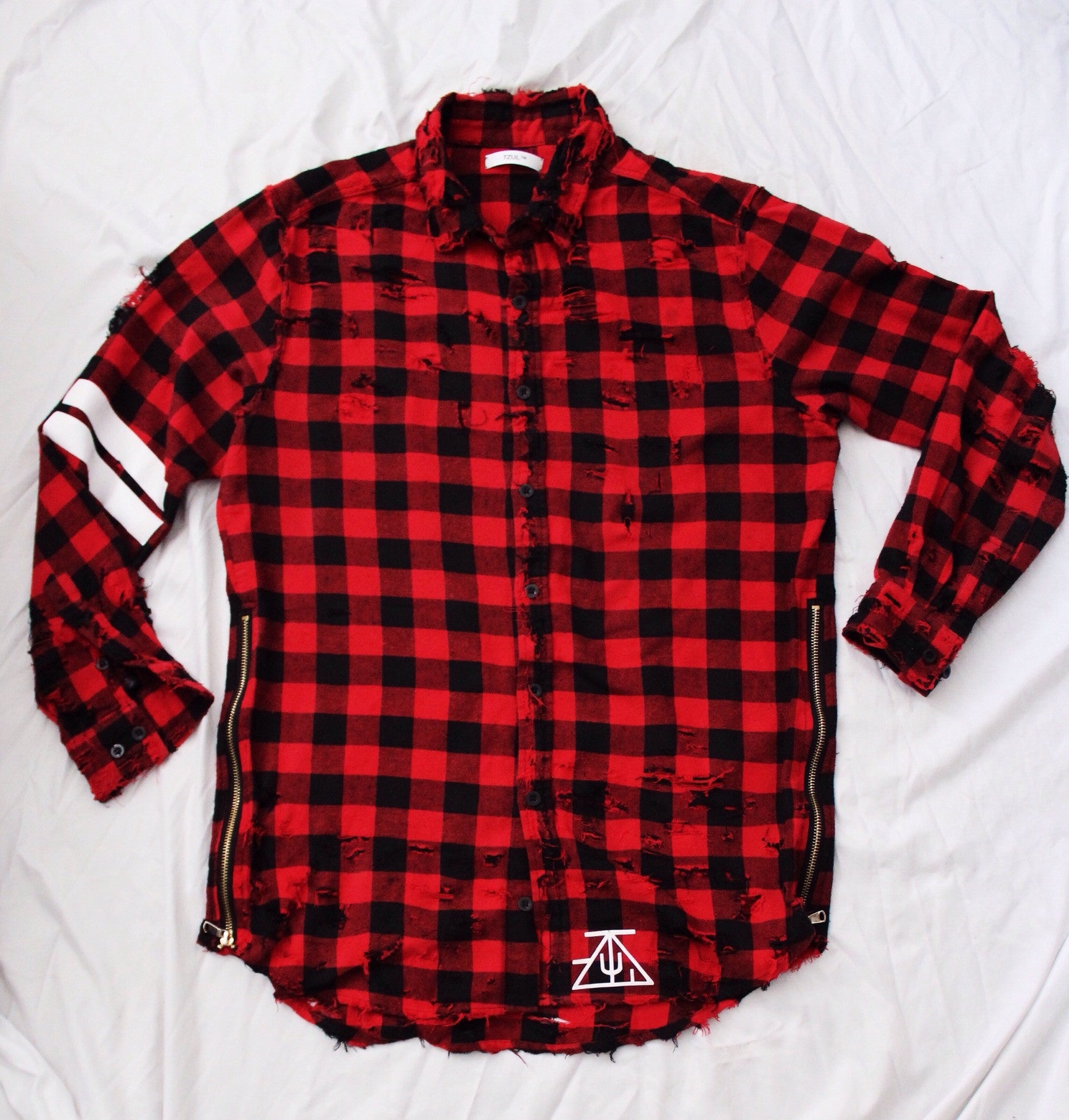 TZUL Vintage Distressed Flannel Shirt