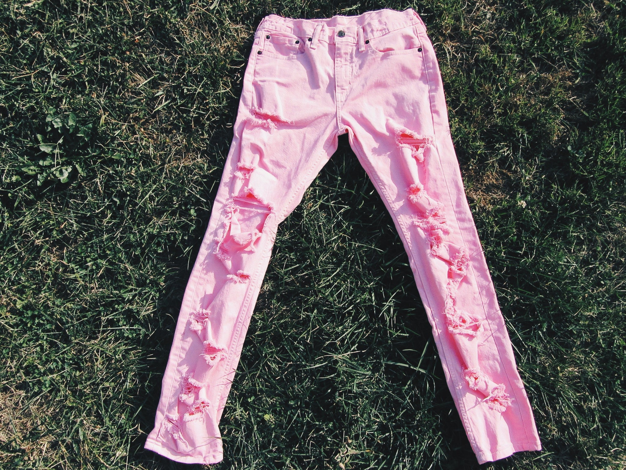 Distressed Denim 5.0 (Unisex) Powered Pink