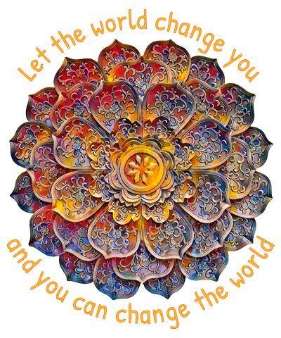 Let the world change you and you can change the world