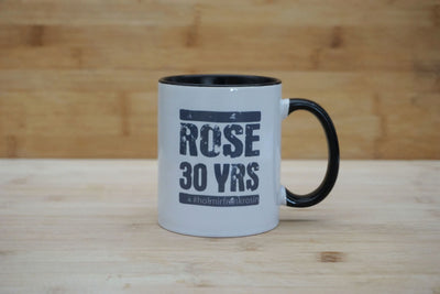 Kaffeetasse Rose 30 YRS - black