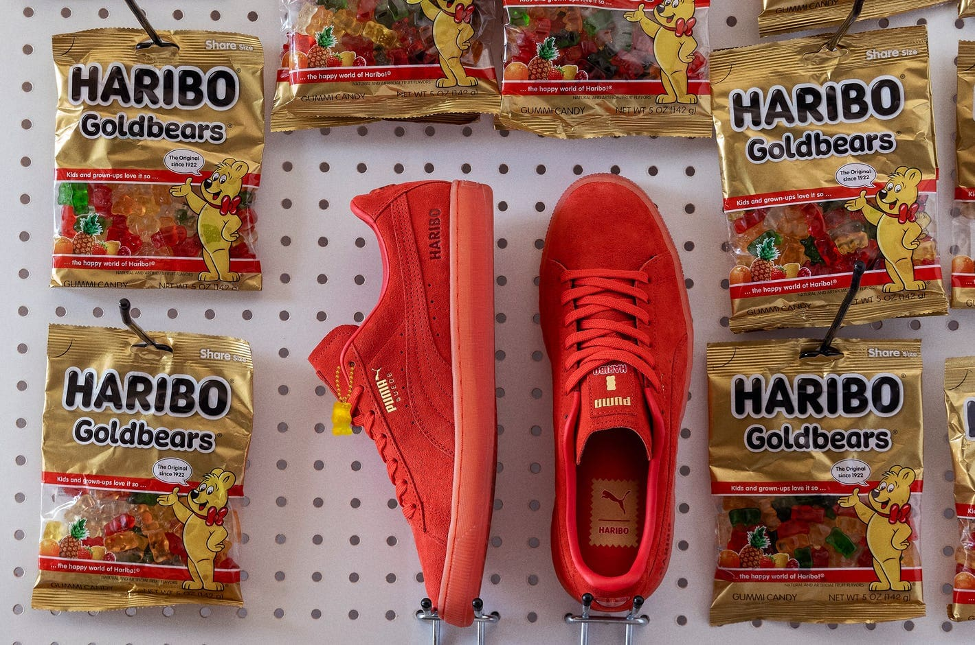 PUMA and Haribo Collab Sneakers Suede News New Yellow Red Green Sweets Candy Bears