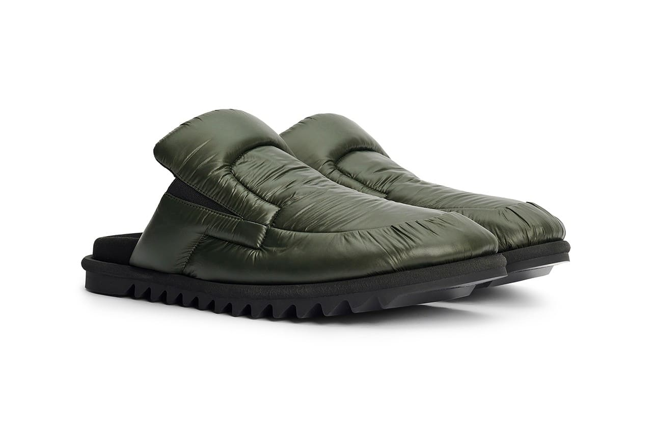 dries van noten padded nylon backless mules shoes sneakers fall winter 2021 collection comfy birds tee temple olive green t-shirt t shirt love paranoid love/paranoid streetwear fashion wear bird designer