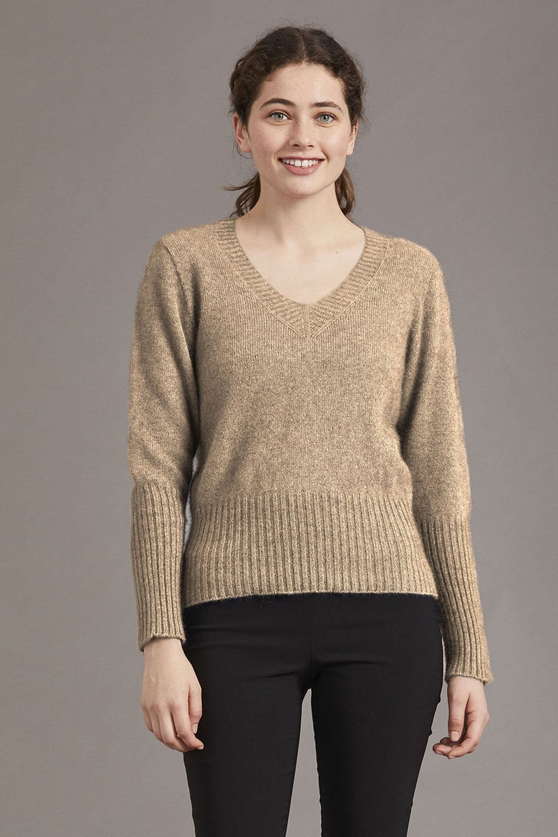 McDonald Possum Merino High Rib Jumper