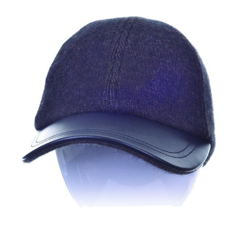 McDonald Possum Merino Leather Peak Hat