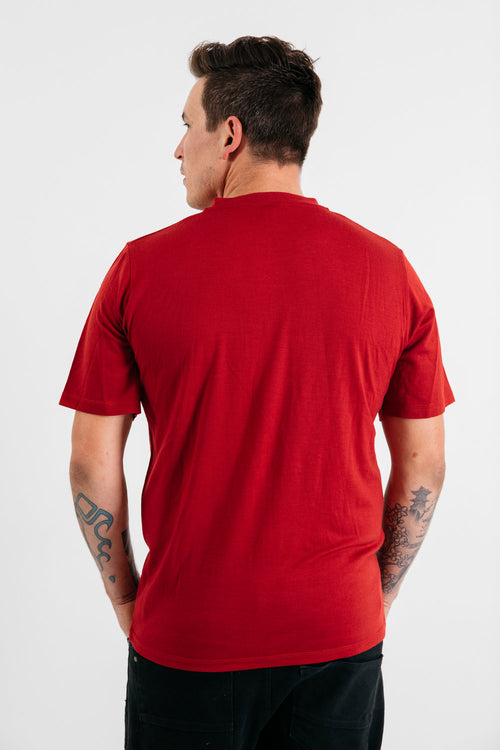Mens Merino Knitwear: Short Sleeve V-Neck