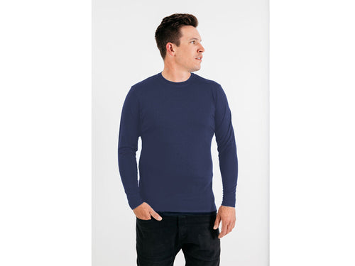 Mens Merino Top Long Sleeve Crew Neck