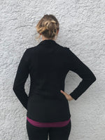 Women's  Zip Collar  320gsm Merino Sweater