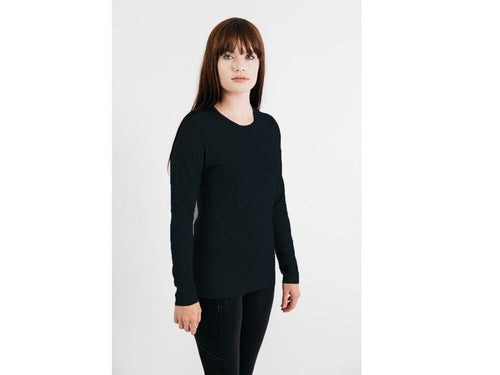 Womens Merino Knitwear Long Sleeve Crew Neck  T Shirt
