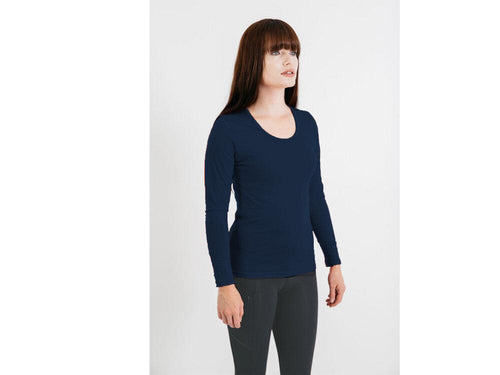 Womens Merino Top Long Sleeve Scoop