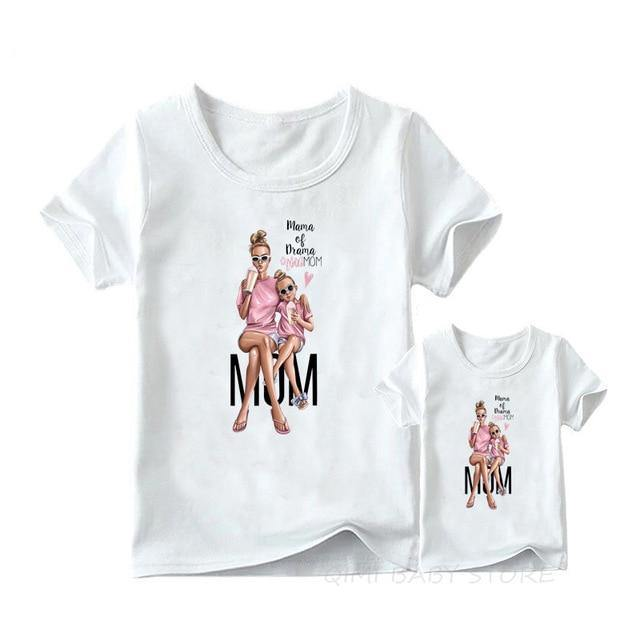 Matching Family Outfits Super Mom and Daughter Print Boys Girls T-shirt Mother's day Present Clothes Kids&Woman Funny Tshirt freeshipping - Mshop Store