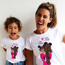Load image into Gallery viewer, Matching Family Outfits Super Mom and Daughter Print Boys Girls T-shirt Mother's day Present Clothes Kids&Woman Funny Tshirt freeshipping - Mshop Store