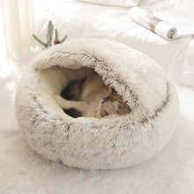 Load image into Gallery viewer, Pet Dog Cat Round Plush Bed Cat Nest for Deep Sleep Comfort in Winter Cats Bed Little Mat Basket freeshipping - Mshop Store