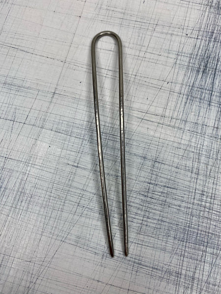 HAIR STICK - Hammered Silver 4""