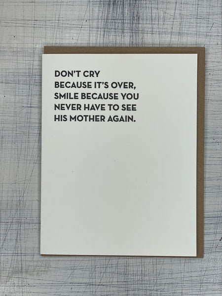 Greeting Card - Don't Cry...