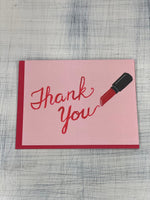 Greeting Card - Thank you (Red Lipstick)